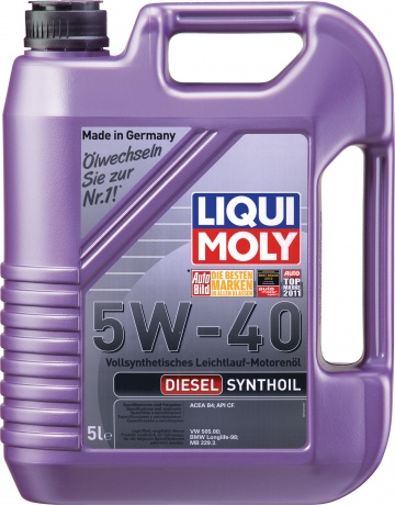 1927 LiquiMoly Diesel Synthoil High Tech 5W-40 синт           5л