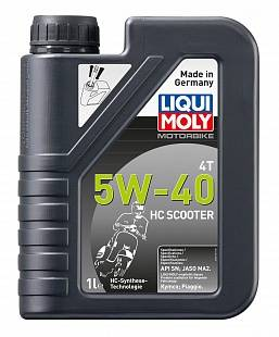20829 LiquiMoly НС-синт. мот.масло Motorbike 4T HC Scooter 5W-40 SN MA2  1л
